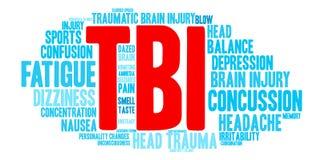 TBI Word Cloud Stock Image