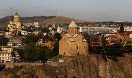 Tbilisi śródmieścia kościół Obrazy Royalty Free
