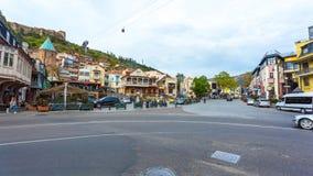 13 04 2018 Tbilisi, Γεωργία - άποψη του Tbilisi, κεφάλαιο Georgi Στοκ Φωτογραφίες