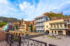 13 04 2018 Tbilisi, Γεωργία - αρχιτεκτονική της παλαιάς πόλης της φυματίωσης Στοκ εικόνες με δικαίωμα ελεύθερης χρήσης