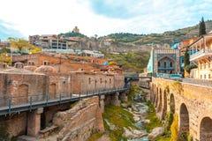 13 04 2018 Tbilisi, Γεωργία - αρχιτεκτονική της παλαιάς πόλης της φυματίωσης Στοκ Εικόνες