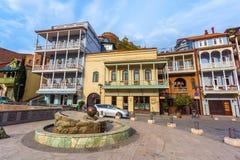 13 04 2018 Tbilisi, Γεωργία - αρχιτεκτονική της παλαιάς πόλης της φυματίωσης Στοκ Φωτογραφίες