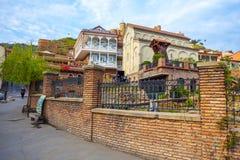 13 04 2018 Tbilisi, Γεωργία - αρχιτεκτονική της παλαιάς πόλης της φυματίωσης Στοκ Φωτογραφία