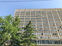 TBILISI, ΓΕΩΡΓΙΑ - - 17 ΜΑΐΟΥ 2018: Άποψη της οικοδόμησης του κρατικού πανεπιστημίου Ivane Javakhishvili Tbilisi Άνοιξη στην πόλη Στοκ εικόνα με δικαίωμα ελεύθερης χρήσης