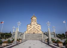 Tbilisi Η ιερή τριάδα Tsmind Sameba ναών στοκ φωτογραφία με δικαίωμα ελεύθερης χρήσης