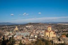 Tbilisi και μοναστήρι Tabor Στοκ Εικόνα