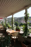 Tbilisi. Summer cafe on a verandah (Tbilisi, Georgia Royalty Free Stock Photos