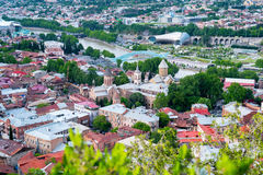 Tbilisi, aerial cityscape Royalty Free Stock Photography