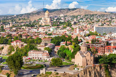 Tbilisi aerial view Stock Photos