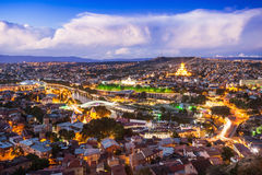 Tbilisi aerial view Stock Image