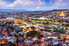 Tbilisi aerial view Stock Photography