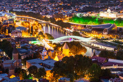 Tbilisi aerial view Royalty Free Stock Photos