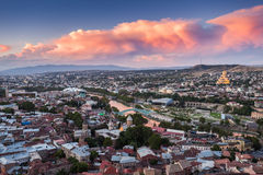 Tbilisi aerial view Royalty Free Stock Photo