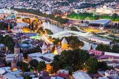 Tbilisi aerial view Royalty Free Stock Photography