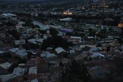 tbilisi Ansicht der Stadt und des Monuments zur Mutter von Georgia Stockfoto