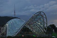tbilisi Ansicht der Stadt und des Monuments zur Mutter von Georgia Lizenzfreies Stockfoto