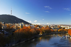 Tbilisi autumn. Taken from metekhi chirch. Tbilisi. Georgia Stock Image