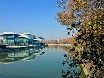 Tbilisi autumn. River Kura Stock Photo