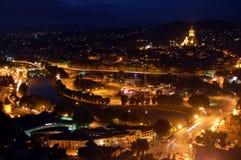 Tbilisi bij nacht Royalty-vrije Stock Fotografie