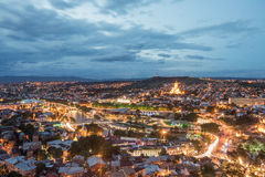 Tbilisi bij nacht, Gorgia Royalty-vrije Stock Fotografie