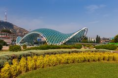 Tbilisi. Bridge of peace. Stock Images