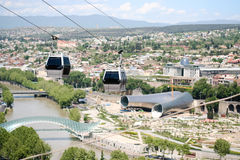 Tbilisi cable car. Tbilisi view, Georgia. See my other works in portfolio Royalty Free Stock Photography