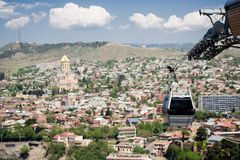 Tbilisi cable car Royalty Free Stock Images