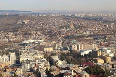 The view of Tbilisi in winter, Georgia Stock Photography