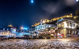 Tbilisi central square at night. Tbilisi, Georgia - November 08, 2016: beautiful view of Tbilisi central square at night stock photo