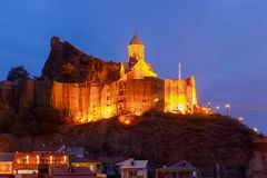 Tbilisi. Citadel of Narikala. Old city. Royalty Free Stock Image