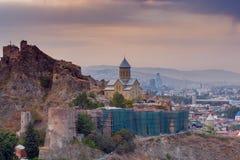 tbilisi Citadela de Narikala Cidade velha Imagem de Stock Royalty Free