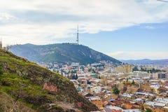 Tbilisi city center aerial view Georgia Stock Images