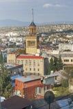 Tbilisi city center aerial view from the mountain Mtazminda, Tbilisi Georgia Stock Photo