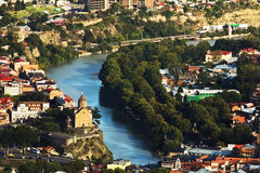 Tbilisi city view from above, Georgia Royalty Free Stock Photos