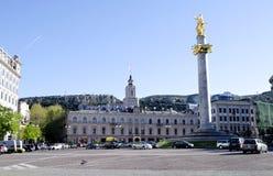Tbilisi, cuadrado de la libertad Foto de archivo libre de regalías