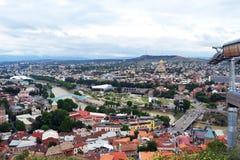 Tbilisi dalla collina Fotografie Stock Libere da Diritti