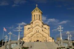 Tbilisi den heliga Trinitydomkyrkan Royaltyfria Foton