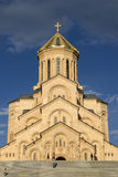 Tbilisi den heliga Trinitydomkyrkan Royaltyfri Foto