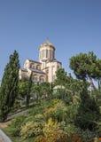 tbilisi Die Heilige Dreifaltigkeit Tempel Tsmind Sameba lizenzfreie stockfotografie
