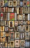 Tbilisi Doors. A collage of doors found in Tbilisi, Georgia Royalty Free Stock Photo