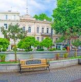 Tbilisi efter regnet Arkivfoton