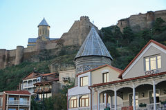 Tbilisi in the evening Royalty Free Stock Photos