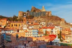 tbilisi gammal stad Arkivbild