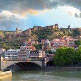 Tbilisi gammal stad Fotografering för Bildbyråer