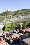 Tbilisi gammal stad Arkivfoton