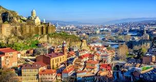 Tbilisi gammal stad, Georgria arkivbild