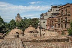 Tbilisi gammal stad, Gorgia arkivfoto