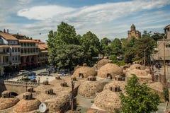 Tbilisi gammal stad, Gorgia arkivbilder