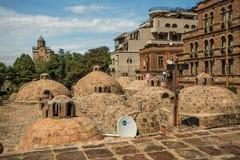 Tbilisi gammal stad, Gorgia arkivbild