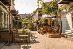 Tbilisi gammal stad på en lat söndag morgon Royaltyfria Bilder